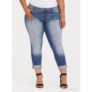 Torrid Light Wash Boyfriend Jeans